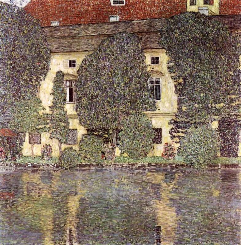 Замок Каммер на Аттерзее  печать на холсте, натянут Климт Густав - фото 1