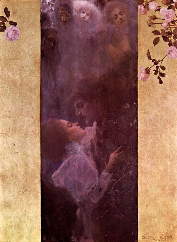 Любовь  печать на холсте, натянут Климт Густав - фото 1