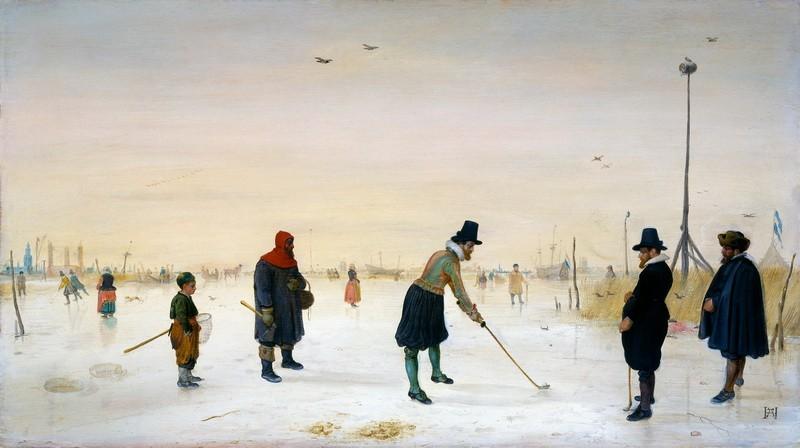 Игры на льду  печать на холсте, натянут Аверкамп Хендрик - фото 1