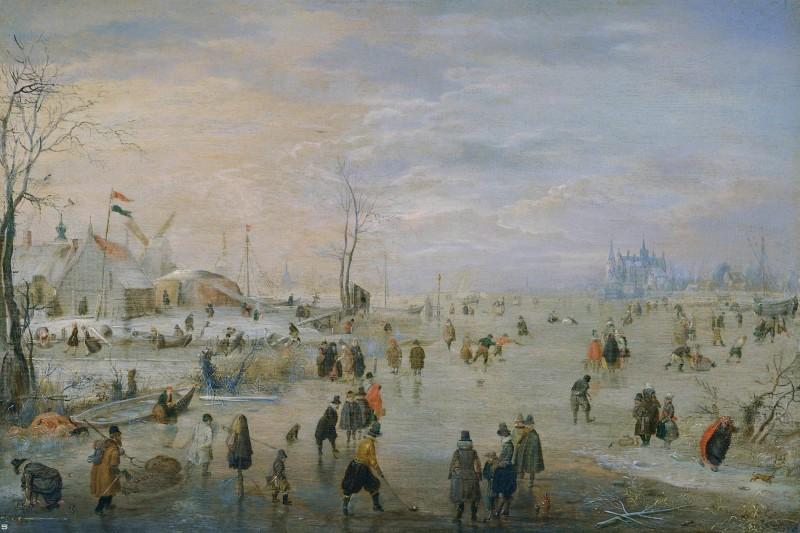 Ледяной край  печать на холсте, натянут Аверкамп Хендрик - фото 1