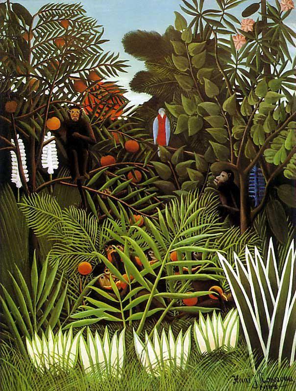 Экзотический пейзаж  печать на холсте, натянут Руссо Анри - фото 1