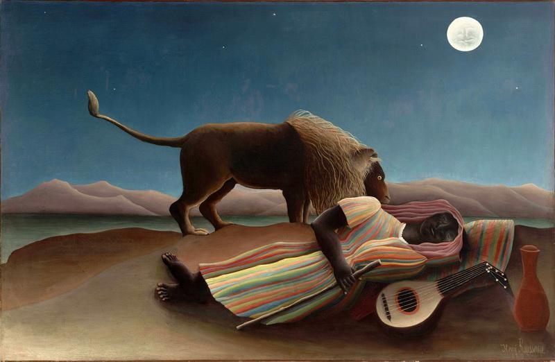 Спящая цыганка  печать на холсте, натянут Руссо Анри - фото 1