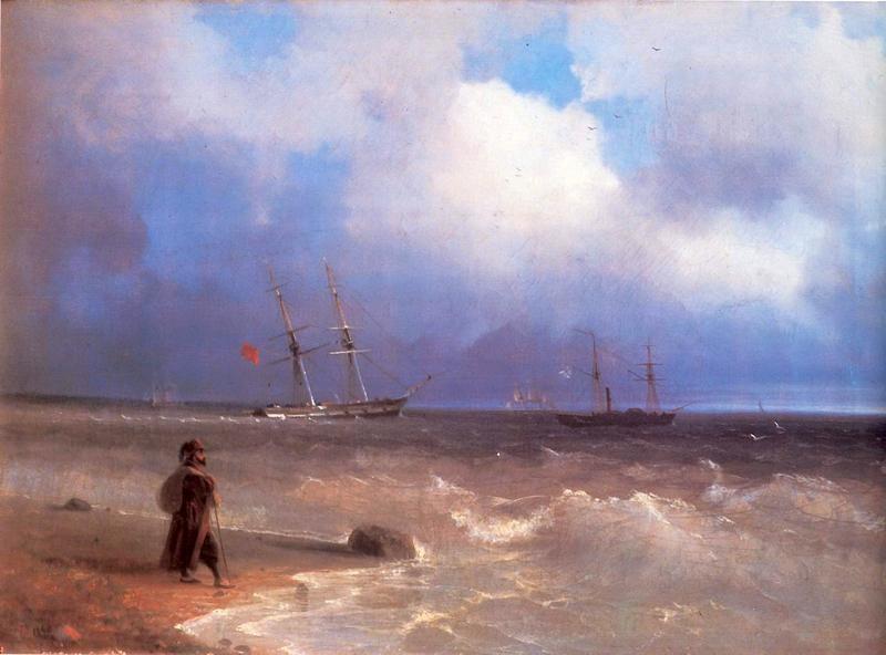 Морской берег  печать на холсте, натянут Айвазовский Иван - фото 1