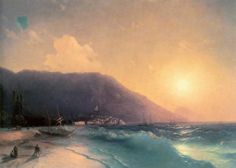 Морской вид  печать на холсте, натянут Айвазовский Иван - фото 1