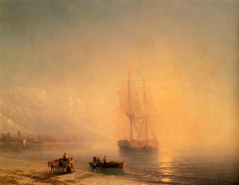 Спокойное море  печать на холсте, натянут Айвазовский Иван - фото 1