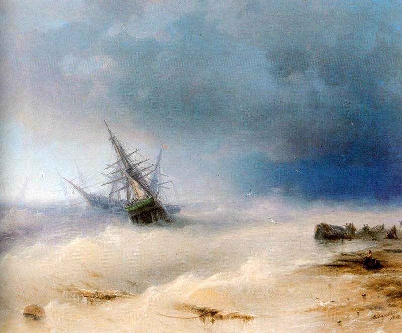 Буря  печать на холсте, натянут Айвазовский Иван - фото 1
