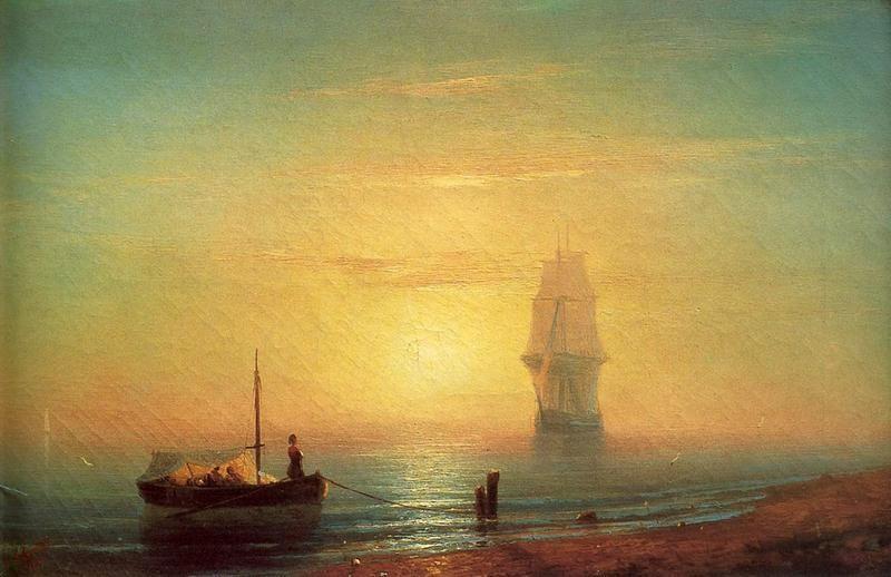 Закат на море  печать на холсте, натянут Айвазовский Иван - фото 1