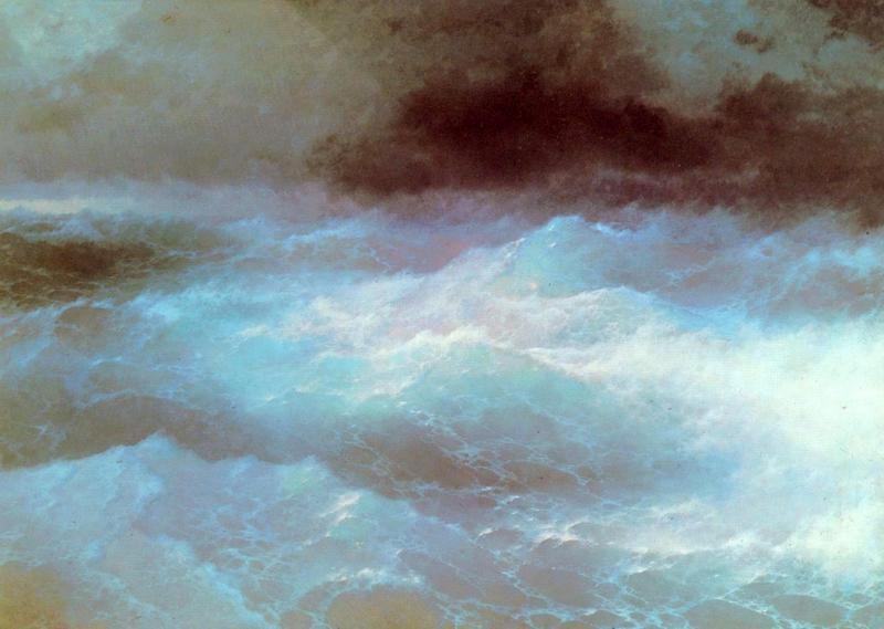 Кавказские горы с моря  печать на холсте, натянут Айвазовский Иван - фото 1