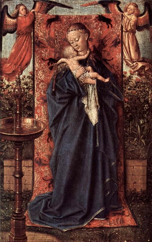 Дева Мария у источника  печать на холсте, натянут Эйк Ян ван - фото 1
