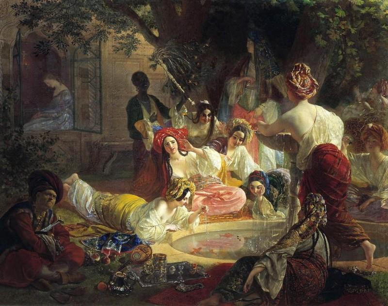 Бахчисарайский фонтан  печать на холсте, натянут Брюллов Карл - фото 1