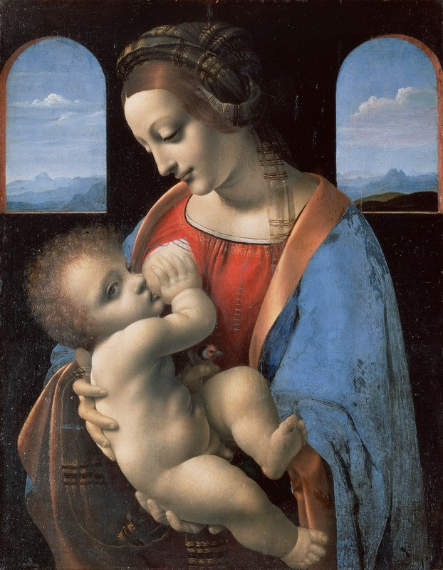Мадонна Литта  печать на холсте, натянут Леонардо да Винчи - фото 1