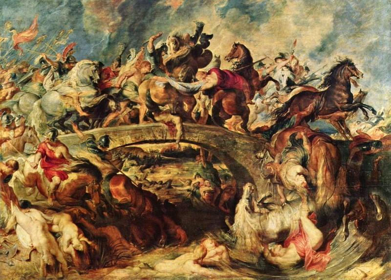 Битва с амазонками  печать на холсте, натянут Рубенс Питер Пауль - фото 1