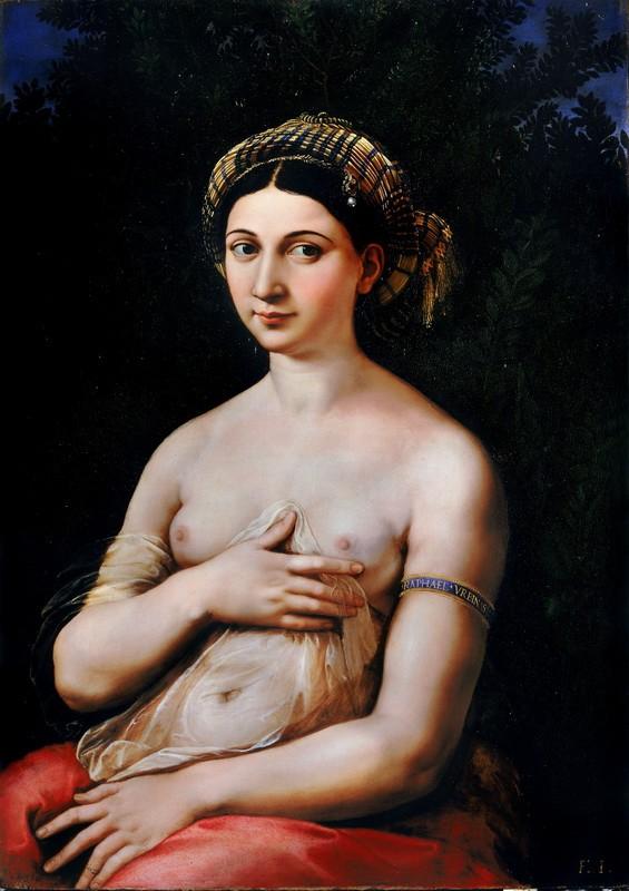 Портрет молодой женщины  печать на холсте, натянут Санти Рафаэль - фото 1