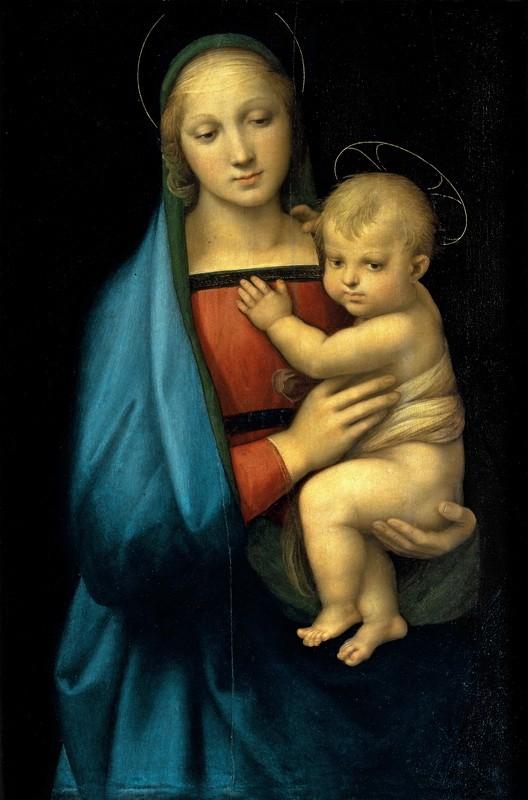 Мадонна Грандука. Мария с младенцем  печать на холсте, натянут Санти Рафаэль - фото 1
