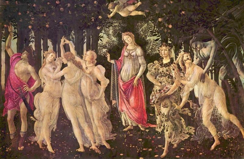 Весна  печать на холсте, натянут Боттичелли Сандро - фото 1
