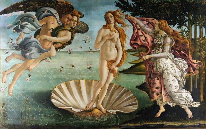 Рождение Венеры  печать на холсте, натянут Боттичелли Сандро - фото 1