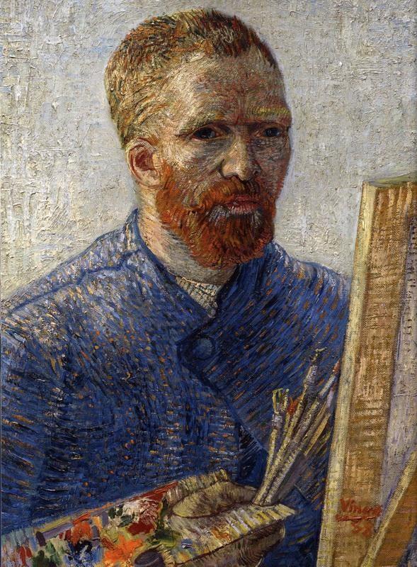 Автопортрет  печать на холсте, натянут Ван Гог Винсент - фото 1