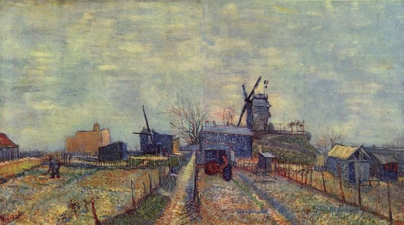 Огороды на Монмартре  печать на холсте, натянут Ван Гог Винсент - фото 1
