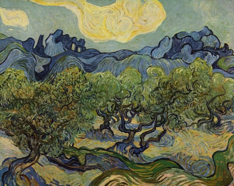 Пейзаж с оливами  печать на холсте, натянут Ван Гог Винсент - фото 1
