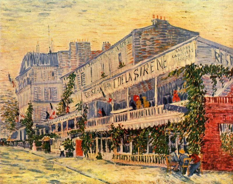 Ресторан  Сирена  в Аньере  печать на холсте, натянут Ван Гог Винсент - фото 1