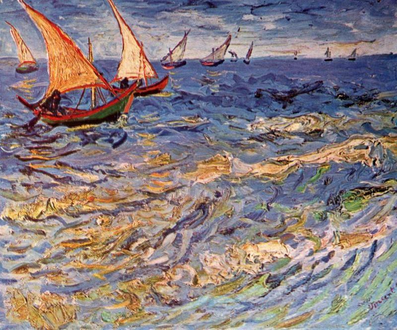 Море в Сент-Марье  печать на холсте, натянут Ван Гог Винсент - фото 1