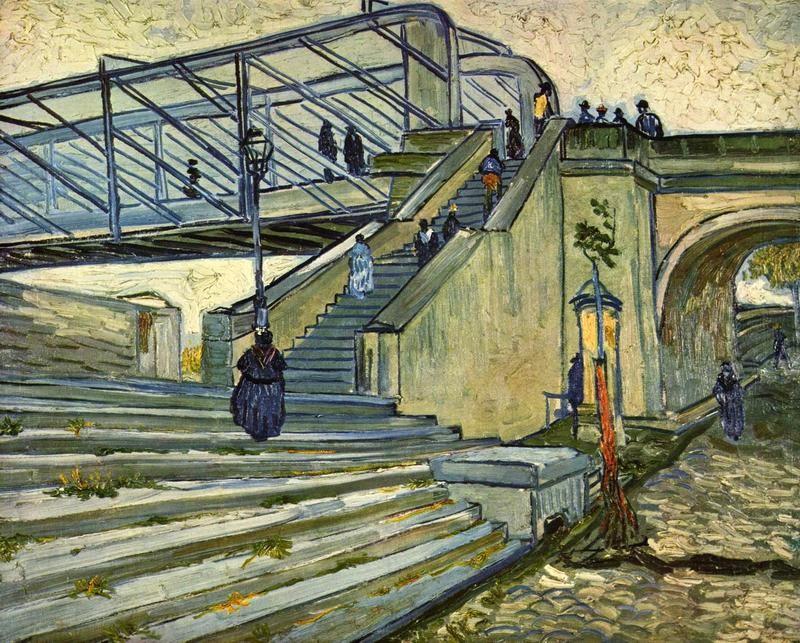 Мост Тренкетей  печать на холсте, натянут Ван Гог Винсент - фото 1