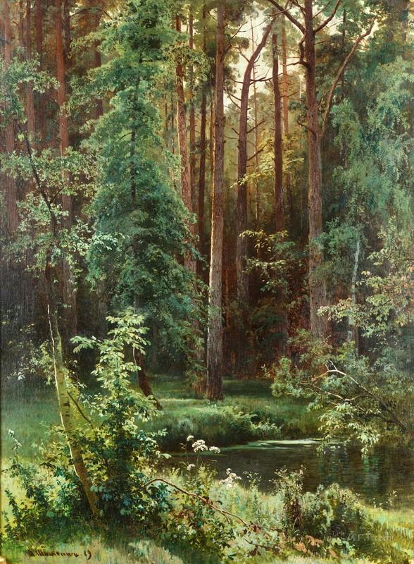 Лесной  печать на холсте, натянут Шишкин Иван - фото 1