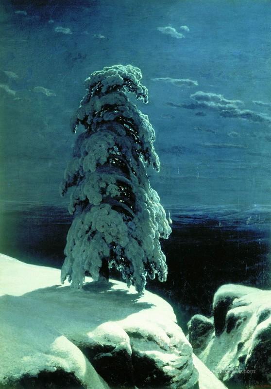 На Севере диком  печать на холсте, натянут Шишкин Иван - фото 1