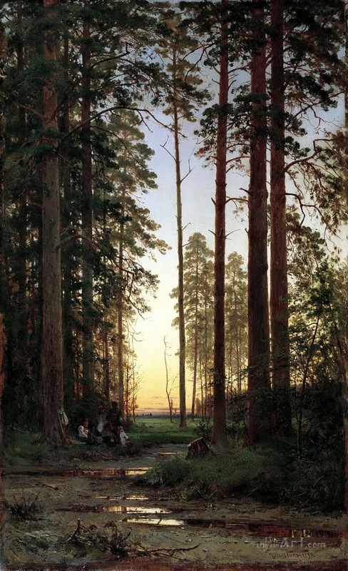 Опушка леса  печать на холсте, натянут Шишкин Иван - фото 1