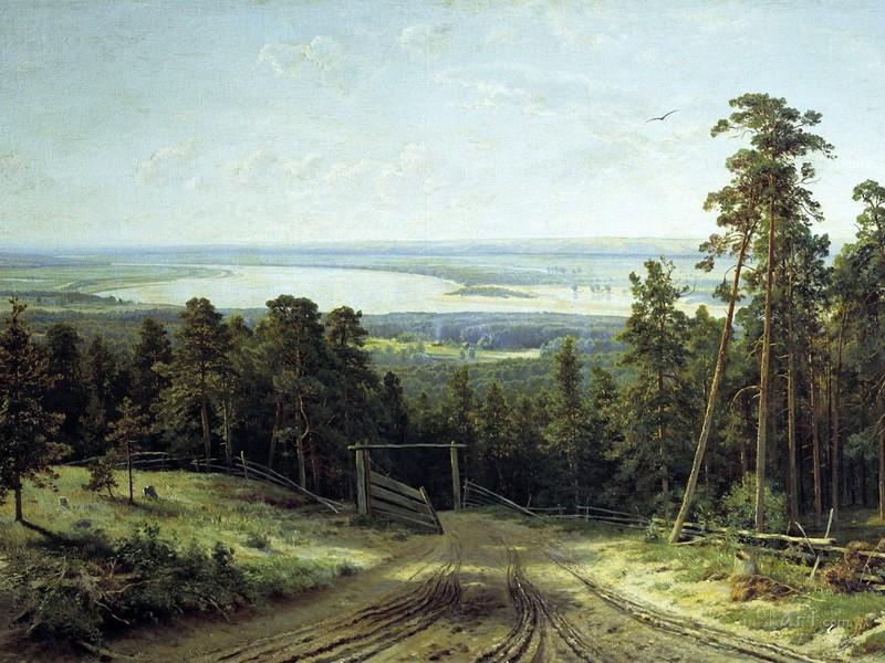 Пейзаж  печать на холсте, натянут Шишкин Иван - фото 1