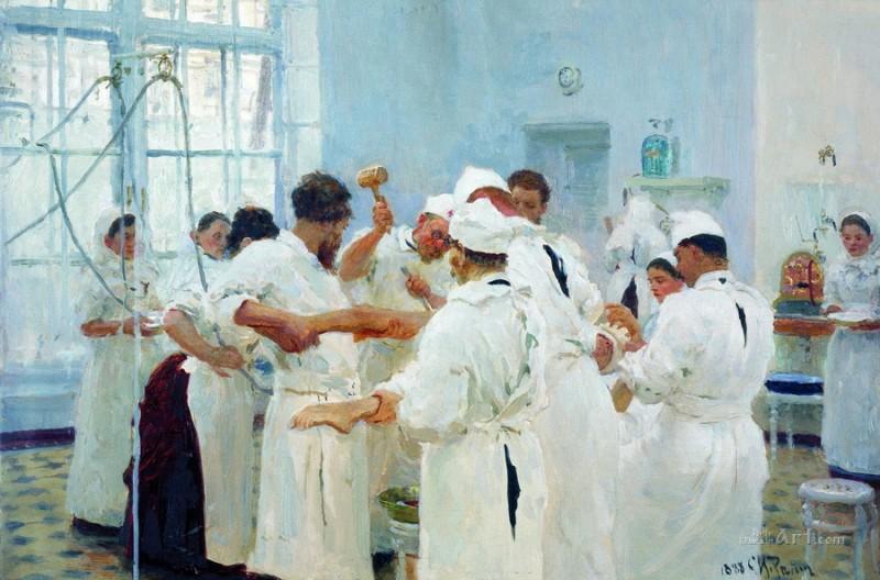 Е.В. Павлов  печать на холсте, натянут Репин Илья - фото 1