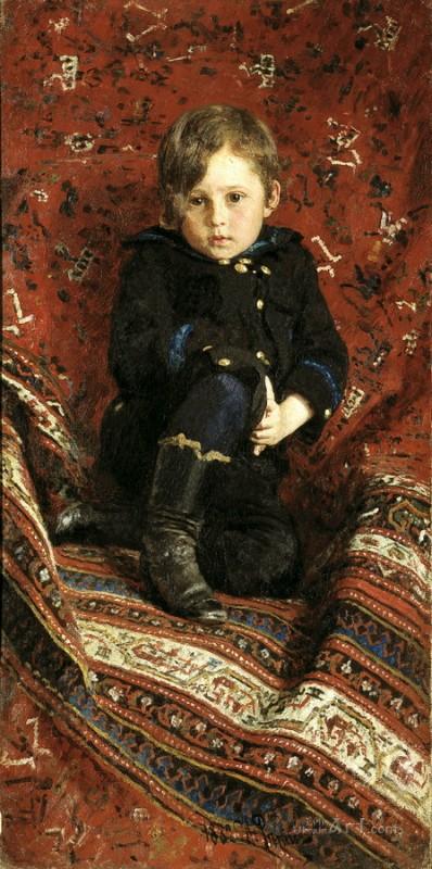 Портрет сына художника, Юрия  печать на холсте, натянут Репин Илья - фото 1