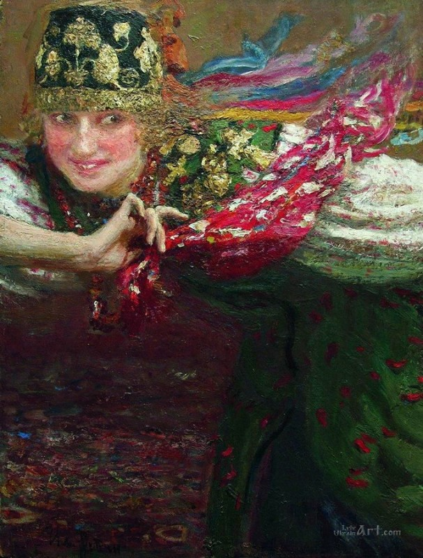 Танцующая  печать на холсте, натянут Репин Илья - фото 1