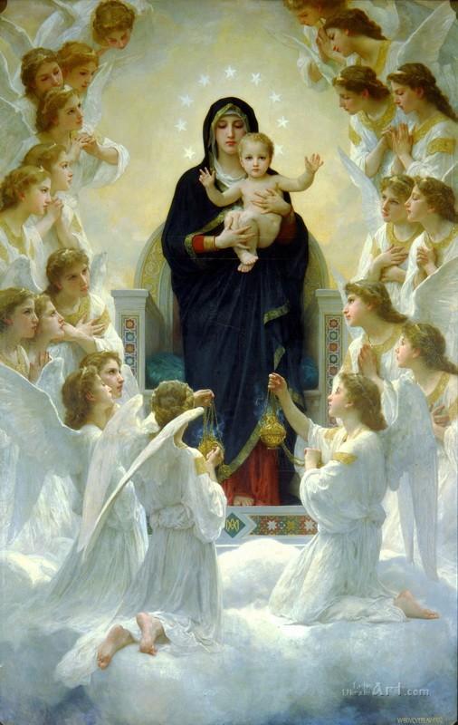 Ангельское пение  печать на холсте, натянут Бугеро Вильям-Адольф - фото 1