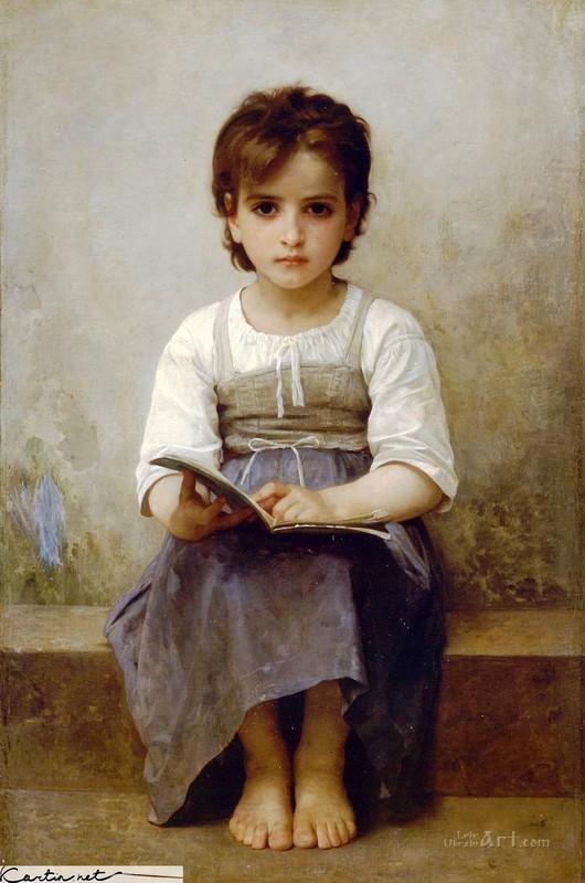 Портрет девочки  печать на холсте, натянут Бугеро Вильям-Адольф - фото 1