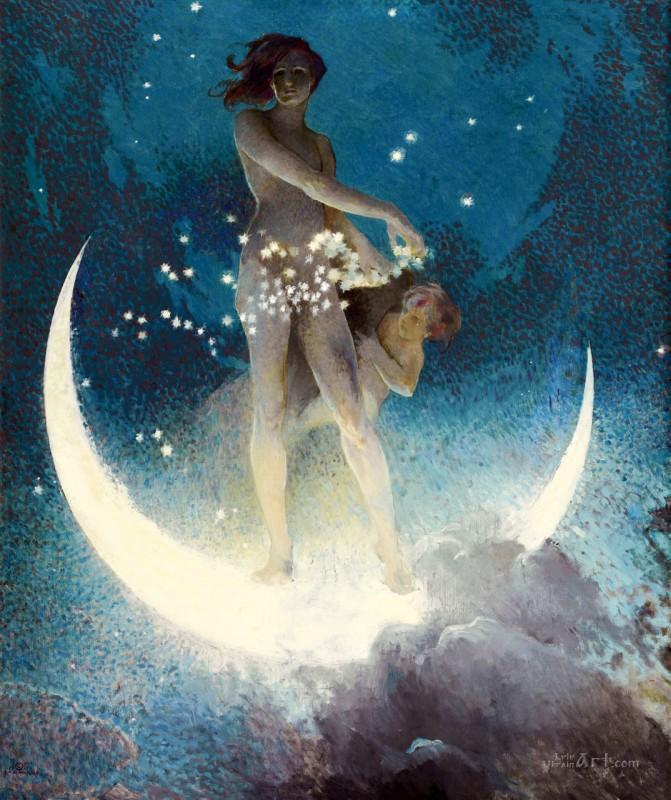 Весна которая сеет звезды  печать на холсте, натянут Блэшфилд Эдвин Ховланд - фото 1