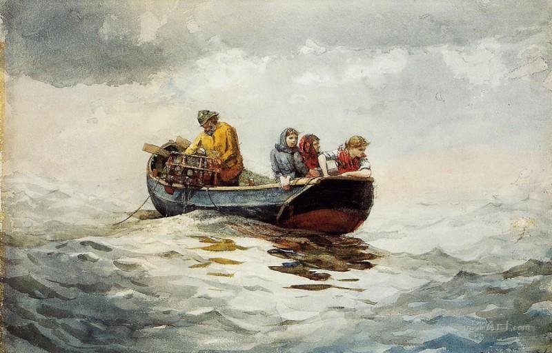 Лов крабов  печать на холсте, натянут Хомер Уинслоу - фото 1