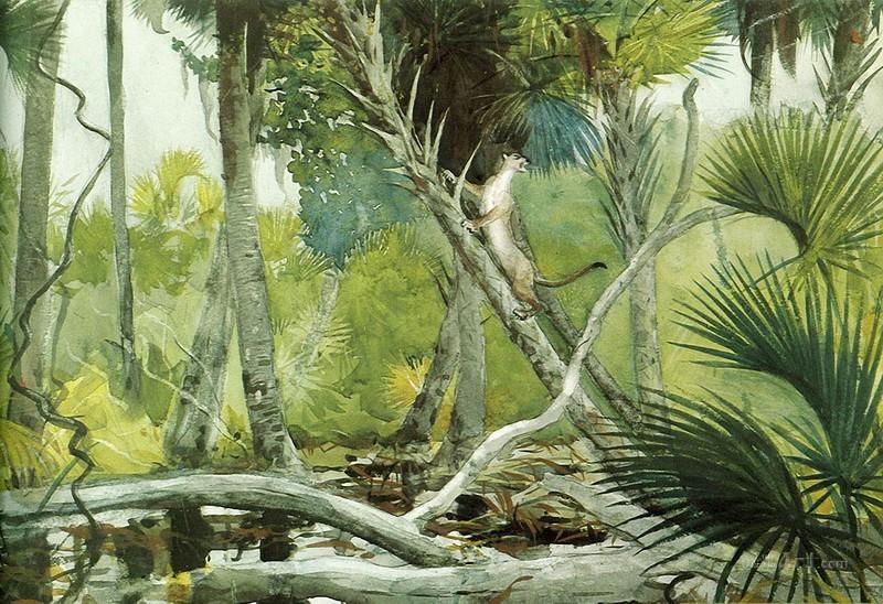 В джунглях Флориды  печать на холсте, натянут Хомер Уинслоу - фото 1