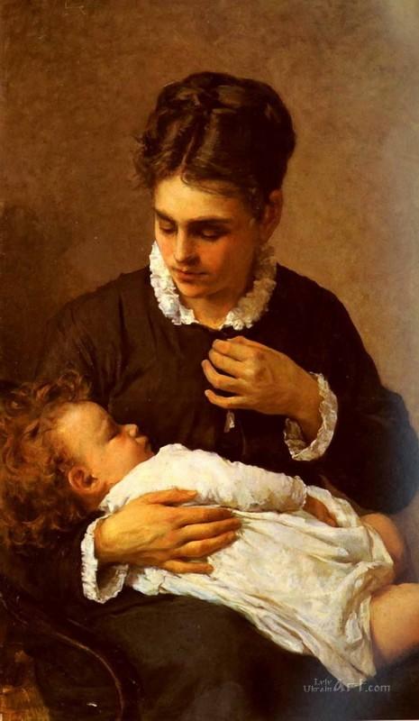 Материнство  печать на холсте, натянут Лега Сильвестро - фото 1