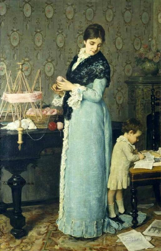 Мать  печать на холсте, натянут Лега Сильвестро - фото 1
