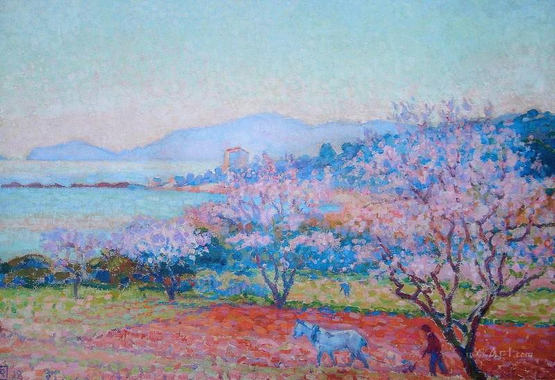Цветы миндаля  печать на холсте, натянут Рейссельберге Тео ван - фото 1