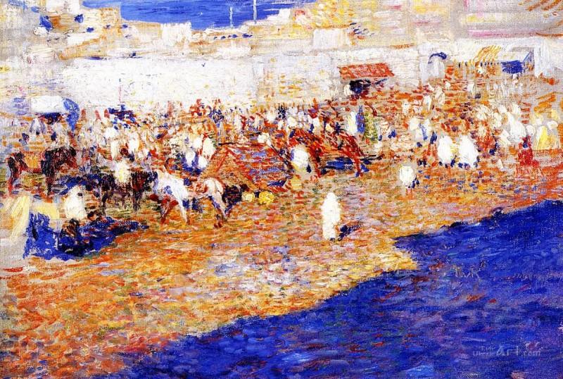 Марокканский рынок  печать на холсте, натянут Рейссельберге Тео ван - фото 1