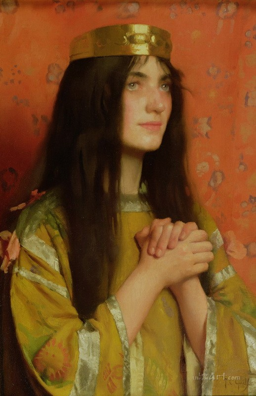 Королева Клотильда  печать на холсте, натянут Готч Томас Купер - фото 1