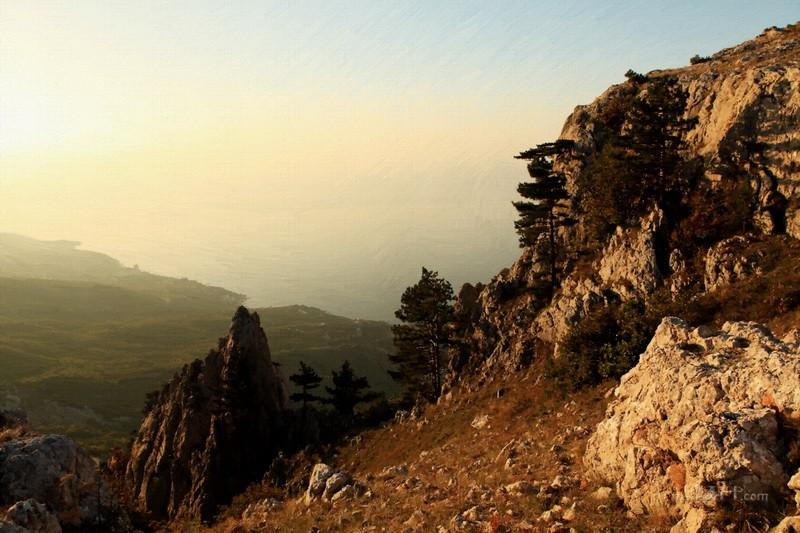 Горы  печать на холсте, натянут UkrainArt - фото 1