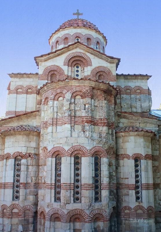 Древняя православная церковь в Керчи  печать на холсте, натянут UkrainArt - фото 1