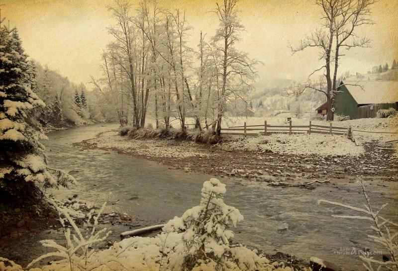 Зима в Карпатах  печать на холсте, натянут UkrainArt - фото 1