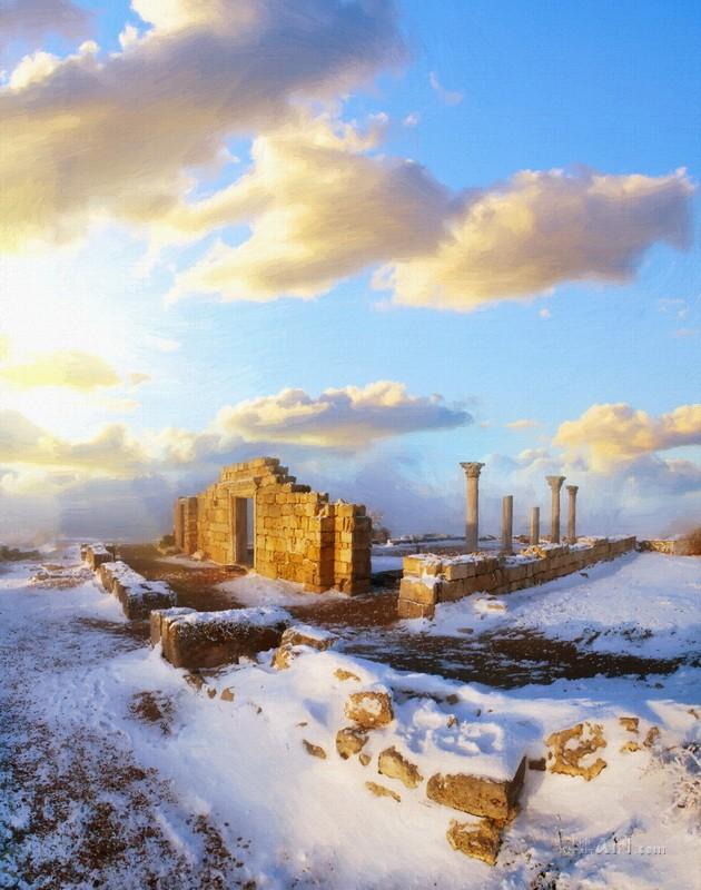 Зимний древний Херсонес  печать на холсте, натянут UkrainArt - фото 1
