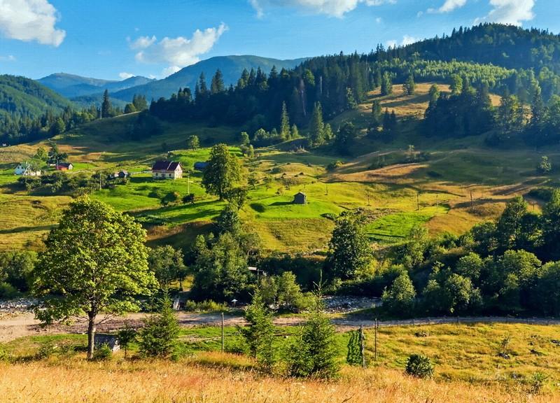 Карпаты летом  печать на холсте, натянут UkrainArt - фото 1