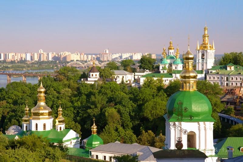 Киевская Лавра  печать на холсте, натянут UkrainArt - фото 1