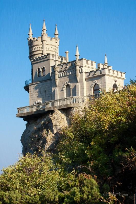 Ласточкино гнездо в Крыму  печать на холсте, натянут UkrainArt - фото 1
